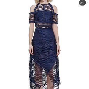 Rachel Gilbert Honeycomb Wrap Dress